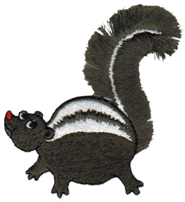 """Embroidery Design: Fringe Skunk2.92"""" x 3.26"""""""