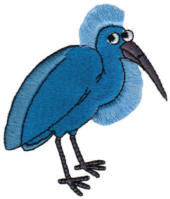 "Embroidery Design: Fringe Blue Heron2.83"" x 3.24"""