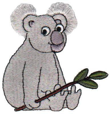 "Embroidery Design: Fringe Koala Bear2.94"" x 2.87"""
