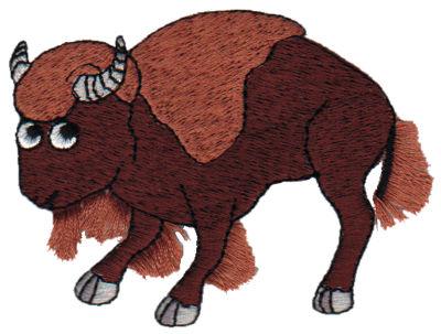 "Embroidery Design: Fringe Buffalo3.26"" x 2.49"""