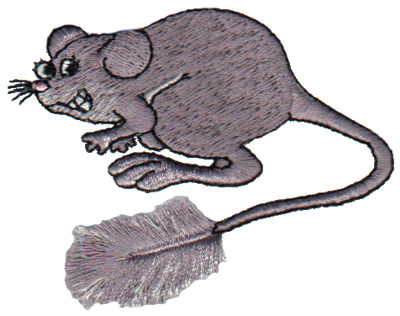 """Embroidery Design: Fringe Mouse3.09"""" x 2.24"""""""