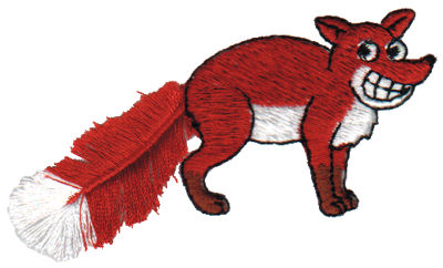 """Embroidery Design: Fringe Red Fox3.17"""" x 1.87"""""""