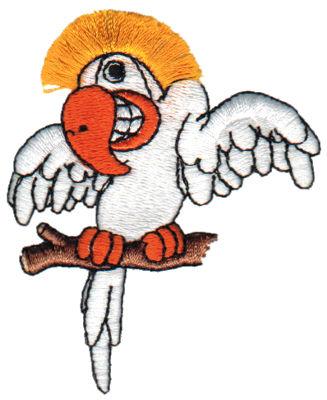 "Embroidery Design: Fringe Cockatoo2.60"" x 3.06"""