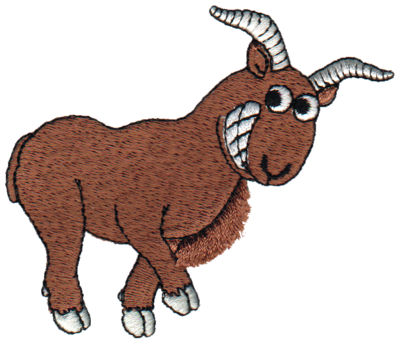 "Embroidery Design: Fringe Mountain Sheep3.76"" x 3.20"""