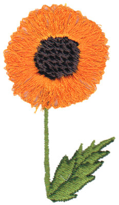 "Embroidery Design: Black Eyed Susan1.67"" x 2.93"""