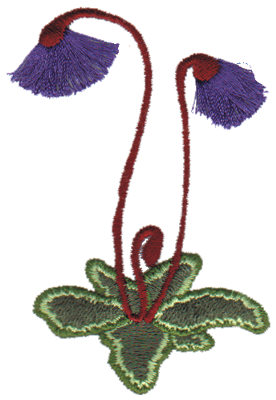 "Embroidery Design: Butterwort2.07"" x 3.24"""