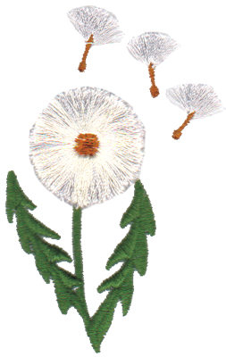 "Embroidery Design: Dandelion Gone to Seed2.08"" x 3.26"""