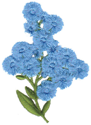 "Embroidery Design: Forget-Me-Nots2.31"" x 3.28"""