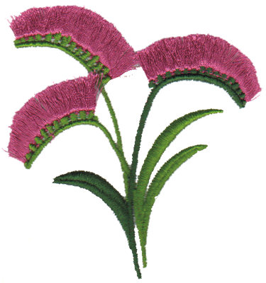 "Embroidery Design: Freesia3.08"" x 3.33"""