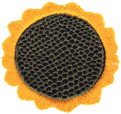 "Embroidery Design: Sunflower3.12"" x 3.18"""