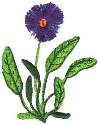 "Embroidery Design: Violet2.63"" x 3.15"""