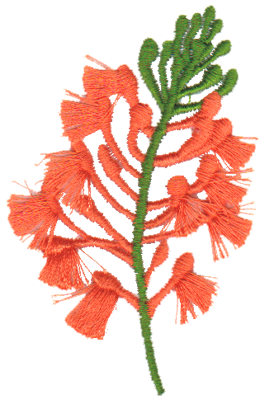 "Embroidery Design: Fringed Orchid1.96"" x 3.18"""