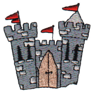 "Embroidery Design: Castle2.05"" x 1.96"""