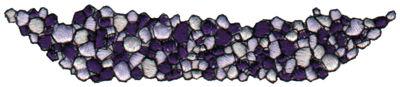 "Embroidery Design: Gravel (Pebbles)4.37"" x 0.92"""