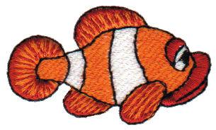"Embroidery Design: Clown Fish2.51"" x 2.92"""