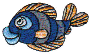 """Embroidery Design: Blue Dory1.85"""" x 1.05"""""""