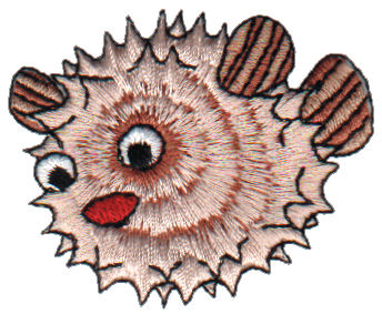 """Embroidery Design: Puffer Fish2.21"""" x 1.86"""""""
