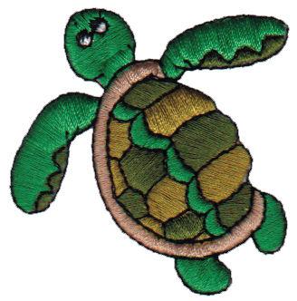 """Embroidery Design: Sea Turtle2.07"""" x 2.12"""""""