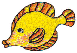 """Embroidery Design: Kissing Fish1.67"""" x 1.11"""""""