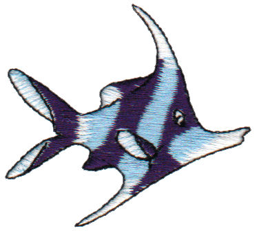 """Embroidery Design: Angel Fish2.45"""" x 1.71"""""""