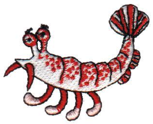 """Embroidery Design: Shrimp2.08"""" x 1.55"""""""