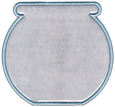 "Embroidery Design: Fish Bowl (Lg)6.07"" x 5.69"""