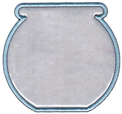 "Embroidery Design: Fish Bowl (Sm)4.54"" x 4.25"""