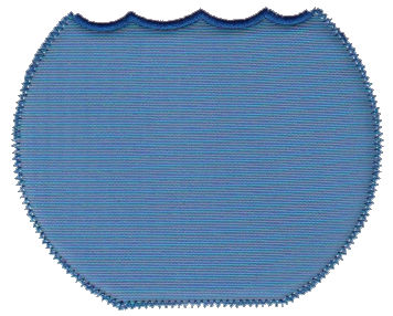"Embroidery Design: Water Background (Sm)4.50"" x 4.22"""