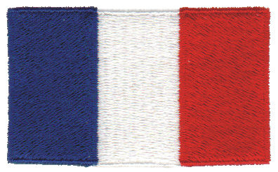 """Embroidery Design: France2.53"""" x 1.52"""""""