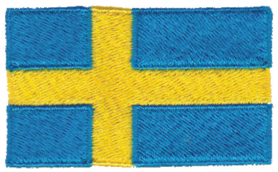 """Embroidery Design: Sweden2.54"""" x 1.52"""""""