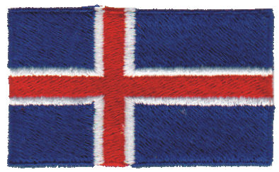 """Embroidery Design: Iceland2.54"""" x 1.52"""""""