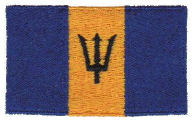 "Embroidery Design: Barbados2.54"" x 1.52"""