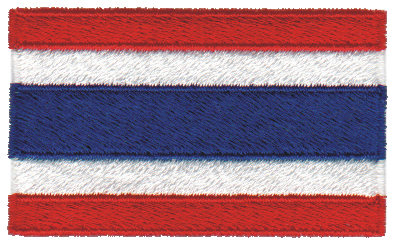 """Embroidery Design: Thailand2.54"""" x 1.51"""""""
