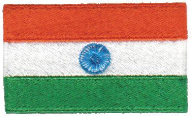 "Embroidery Design: India2.54"" x 1.52"""