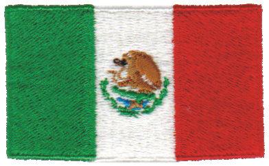 "Embroidery Design: Mexico2.54"" x 1.51"""