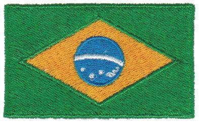 "Embroidery Design: Brazil2.54"" x 1.52"""