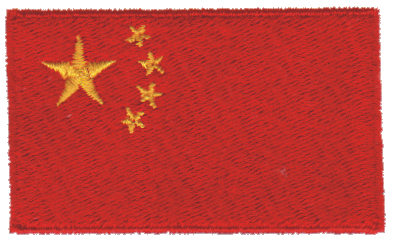 """Embroidery Design: China2.54"""" x 1.52"""""""