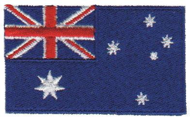 """Embroidery Design: Australia2.54"""" x 1.52"""""""