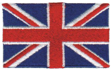 "Embroidery Design: United Kingdom2.54"" x 1.52"""