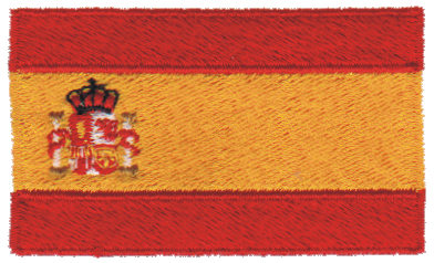 """Embroidery Design: Spain2.54"""" x 1.52"""""""