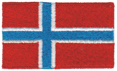 """Embroidery Design: Norway2.54"""" x 1.52"""""""