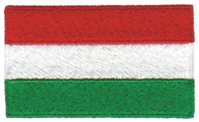 """Embroidery Design: Hungary2.54"""" x 1.52"""""""