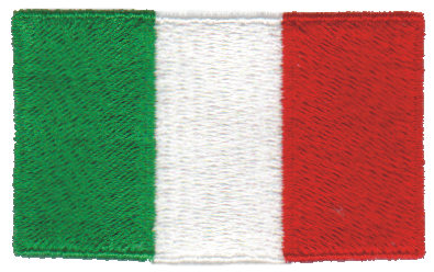 """Embroidery Design: Italy2.54"""" x 1.52"""""""