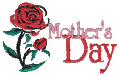 "Embroidery Design: Mother's Day2.94"" x 1.78"""