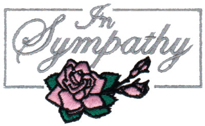 """Embroidery Design: In Sympathy3.81"""" x 2.33"""""""