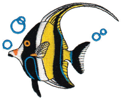 """Embroidery Design: Angel Fish4.32"""" x 3.37"""""""