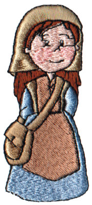 """Embroidery Design: Noah's Wife1.46"""" x 3.11"""""""