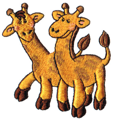"Embroidery Design: 2 Giraffes2.97"" x 2.90"""