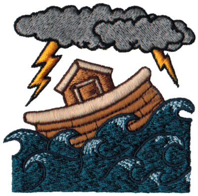 "Embroidery Design: Sailing Ark3.22"" x 3.13"""