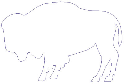 "Embroidery Design: Reverse App Buffalo6.79"" x 4.51"""